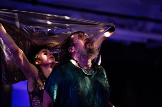 Molly Lieber and Michael Mahalchicjk in luciana Achugar's new work. Photo: Scott Shaw
