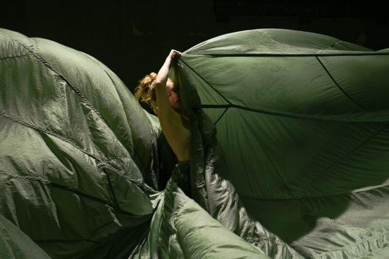 Anneke Hansen engulfed. Photo: Matt Hansen