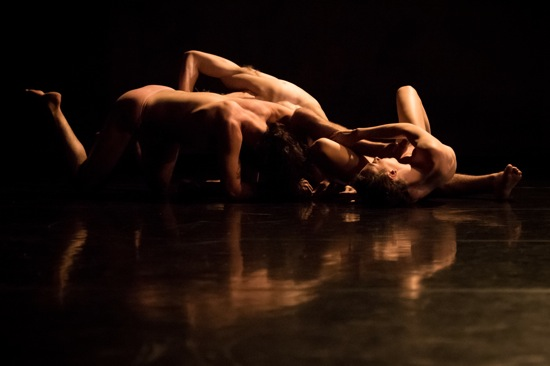Nicholas Bruder, Emma Judkins, and Justin Morrison in Pavel Zuštiak's Custodians of Beauty. Photo: Ian Douglas