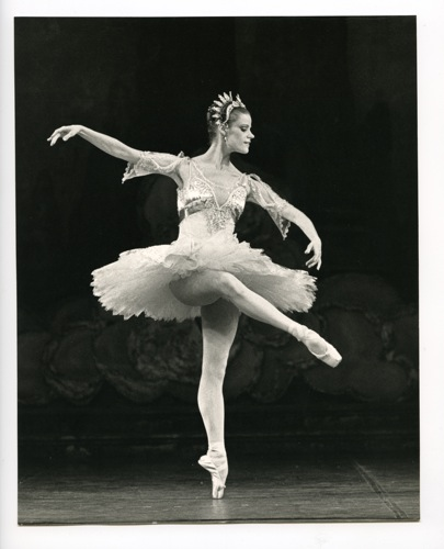 Merrill Ashley, the heroine of Ron Steinman's The Dance Goodbye in her prime at New York City Ballet