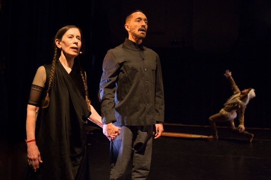 Meredith Monk and Theo Bleckmann singing Monk's Facing North in Climate Control. Photo: Yi-Chun Wu