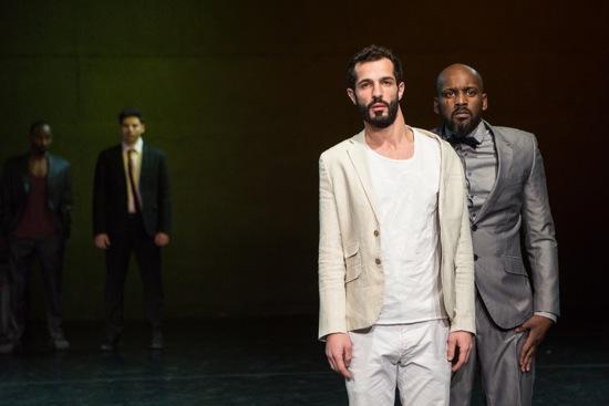 Dabke. Maalii Maali (L) and Samer Samahnah; visible at back: Amir Sabra. Photo: Yi-Chun Wu