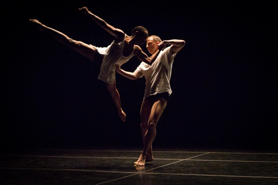 Davalois Fearon and Nicholas Sciscione in Stephen Petronio's new Big Daddy (Deluxe). Photo: Yi-Chun Wu