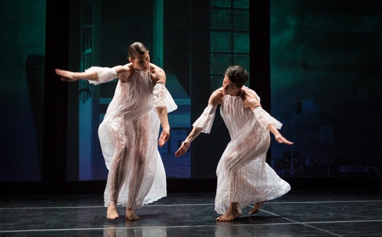Emily Stone (L) and Cori Kresge in Trisha Brown's Glacial Decoy. Photo: Yi-Chun Wu