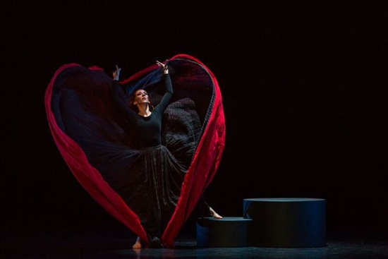 "Blakeley White-McGuire as ""Spectre of 1914"" in Martha Graham's Chronicle. Photo by Brigid Pierce"