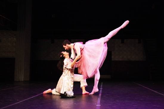 The Lilac Faery (Chris De Vita) gives Aurora (Madison Krekel) a lesson in partnering. Photo: Theo Cote