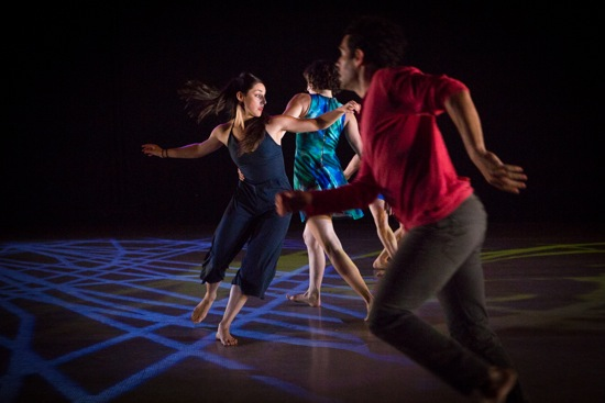 (L to R): Cori Marquis, Gabrielle Revlock, and Darrin Wright in Jane Comfort's You Are Here. Photo: Yi-Chun Wu
