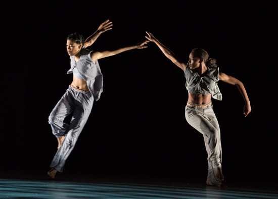 AAADT's Ghrai DeVore (R) and Belen Pereyra in Kyle Abraham's Untitled America: Second Movement. Photo: Yi-Chun Wu