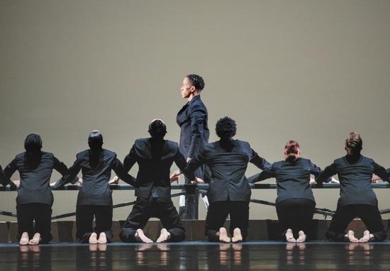 NO LONGER SILENT Choreography: Robert Battle Daniel Harder and AAADT dancers in Robert Battle's No Longer Silent. Photo: Paul Kolnik studio@paulkolnik.com nyc 212-362-7778