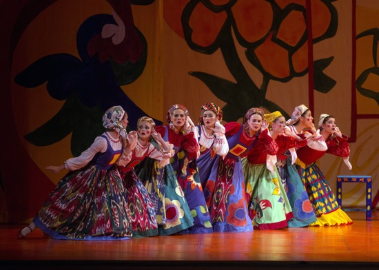 """""""What's that I hear?"""" The peasant women in Act 1 of American Ballet Theatre's The Golden Cockerel"""