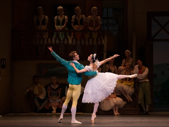 James Whiteside and Stella Abrera of American Ballet Theatre as Colas and Lise in Frederick Ashton's La Fille mal gardée. Photo: Rosalie O'Connor