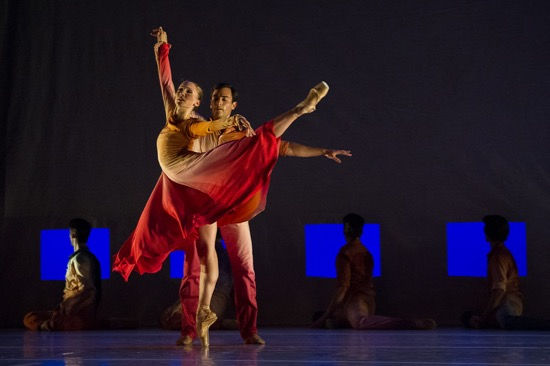Elizabeth Murphy and Jerome Tisserand in one Jacob's Pillow cast of Jessica Lang's Her Dood to the Sky. Photo: Christopher Duggan