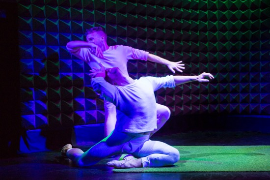 Jordan Isadore (front) and Edward Sturgis in their See Dick Dance. Photo: Yi-Chun Wu