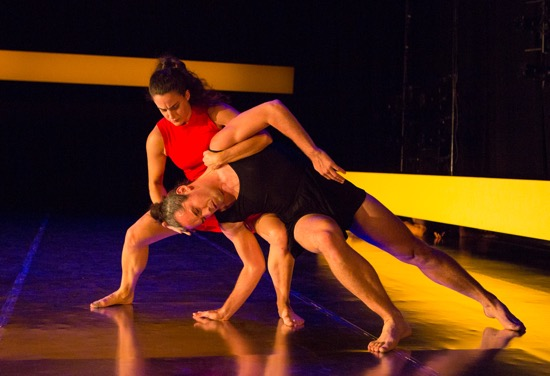 Claire Wesby holds Stuart Singer in Remains. Photo: Yi-Chun Wu