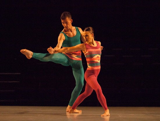 Dylan Crossman and Sarah Haarman in Pam Tanowitz's Sequenzas in Quadrilles. Photo: Yi-Chun Wu