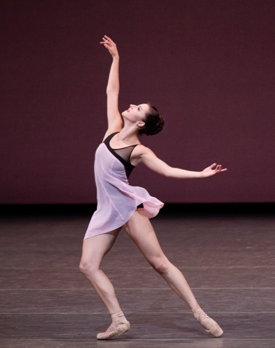 New York City Ballet's Indiana Woodward in Lauren Lovette's For Clara. Photo: Paul Kolnik