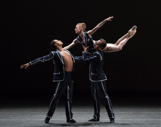 Jared Angle (L), Lauren King, and Preston Chamblee in Annabelle Lopez Ochoa's Unframed. Photo: Paul Kolnik