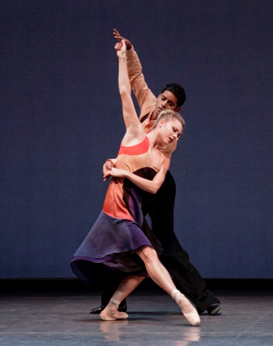 Sara Mearns and Amar Ramasar in Justin Peck's The Dreamers. Photo: Paul Kolnik