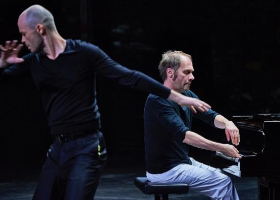 Carlos Garbin and pianist Jean-Luc Plouvier in Anne Teresa De Keersmaeker's Vortex Temporum. Photo: Robert Altman