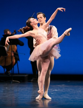 Tiler Peck and Robert Fairchild in George Balanchine's Divertimento Brilante at Vail Dance Festival: ReMix NYCPhoto: Erin Baiano