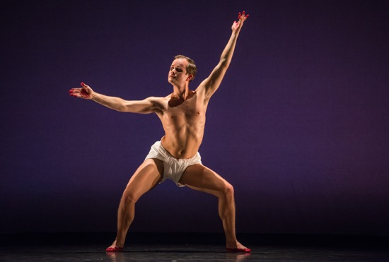 Dallas McMurray performing Mark Morris's O Rangasayee. Photo: Stephanie Berger
