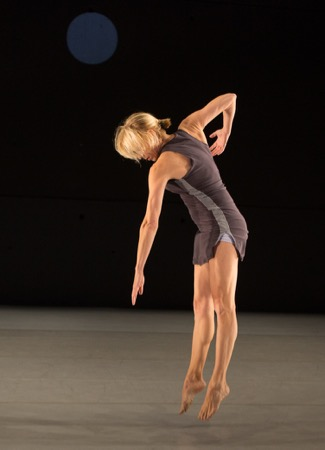 Liz Gerring in her and Kay Rosen's (T)here to (T)here. Photo: Yi-chun Wu