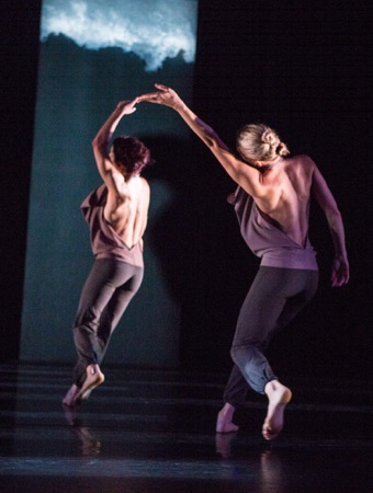 Nicole Diaz (L) and Thryn Saxon of Kate Weare Company in Marksman. Photo: Yi-chun Wu