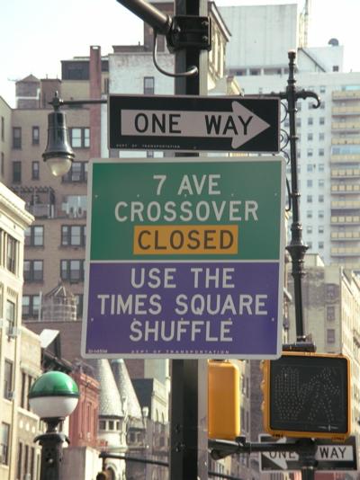 Times Square Shuffle [Photo: Alice Dayton]