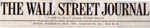 WSJ's front page banner