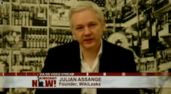 Julian Assange, speaking from the Ecuadorian embassy in London [Nov. 29, 2012]