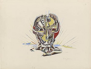 Ville cranienne (Skull City) 1940, Masson;  AndreÌ;  1896-1987. Drawing, 2011.6 RECTO