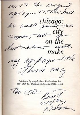 CHICAGO: City on the Make [Angel Island, 1961]