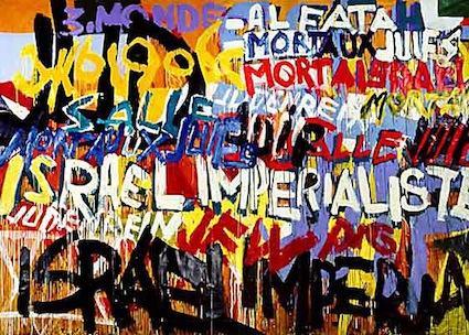 'Mort aux Juifs' by Boris Lurie [1970]