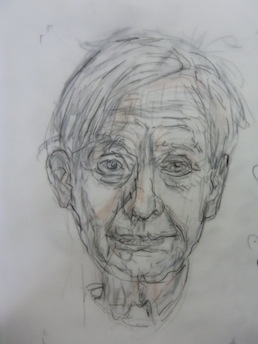 Sketch #1 of Willem de Kooning by Gerard Bellaart