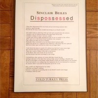 Sinclair Beiles 'Dispossessed' [Cold Turkey Press]