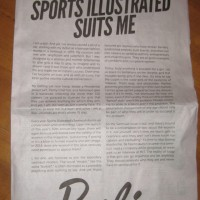 This Barbie Doll ad showed up in the New York Times this morning. Prominently positioned in the A-section on page 7. [Feb. 18, 2014]