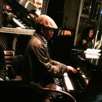 Sacha Perry was the pianist in the hard-bop Dwayne Clemons Quintet at Smalls on Thursday night (May 22, 2014).