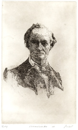 BAUDELAIRE (etching by Gerard Bellaart, 1977)
