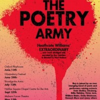 A Poster for 'The Poetry Army' Tour in the U.K.