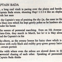 Captain Bada by Frank O'Hara [The San Francisco EARTHQUAKE No. 2, page 6]