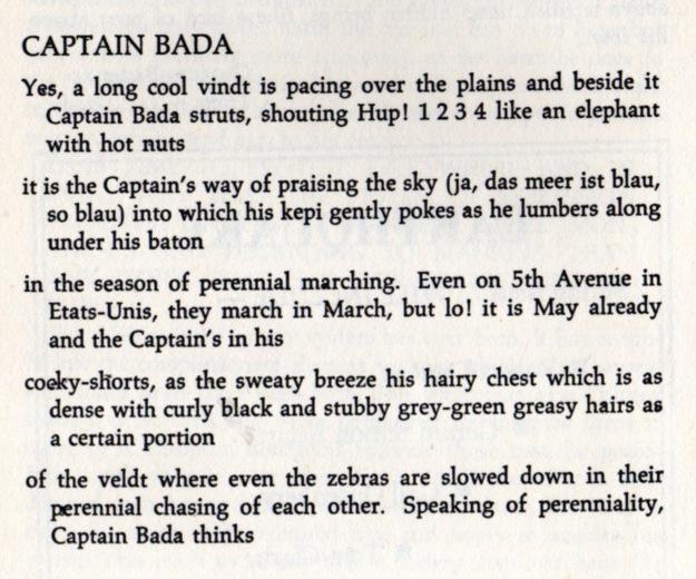 Did Frank Ohara Write Captain Bada I Thought So