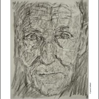 Drawing of William Burroughs [Gerard Bellaart, 2014]