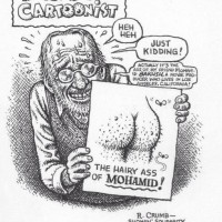 This cartoon (© by R. Crumb) appeared in the print edition of Libération magazine.