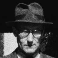 Burroughs wearing his fedora. [Photo: Harriet Crowder]