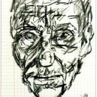 William S. Burroughs [Drawing © by Gerard Bellaart]