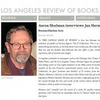 Los Angeles Review of Books [Aaron Shulman interviews Jan Herman, 2015]