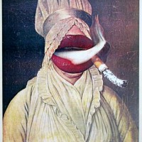 'Victorian Smoker' [Undated collage by Norman O. Mustill]