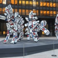 Dubuffet's 'Welcome Parade' on Park Ave.