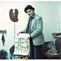 Gerard Bellaart displays the logo of Cold Turkey Press