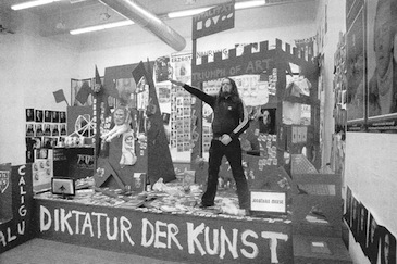 "Meese gives the Nazi salute in his installation ""Hot Earl Green Sausage (First Flush)' at the Bortolami Gallery in New York, 2011. [Photo: Jan Bauer]"